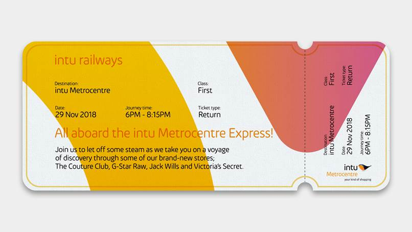 train Ticket for Snta Express at Intu Metrocentre December 2018