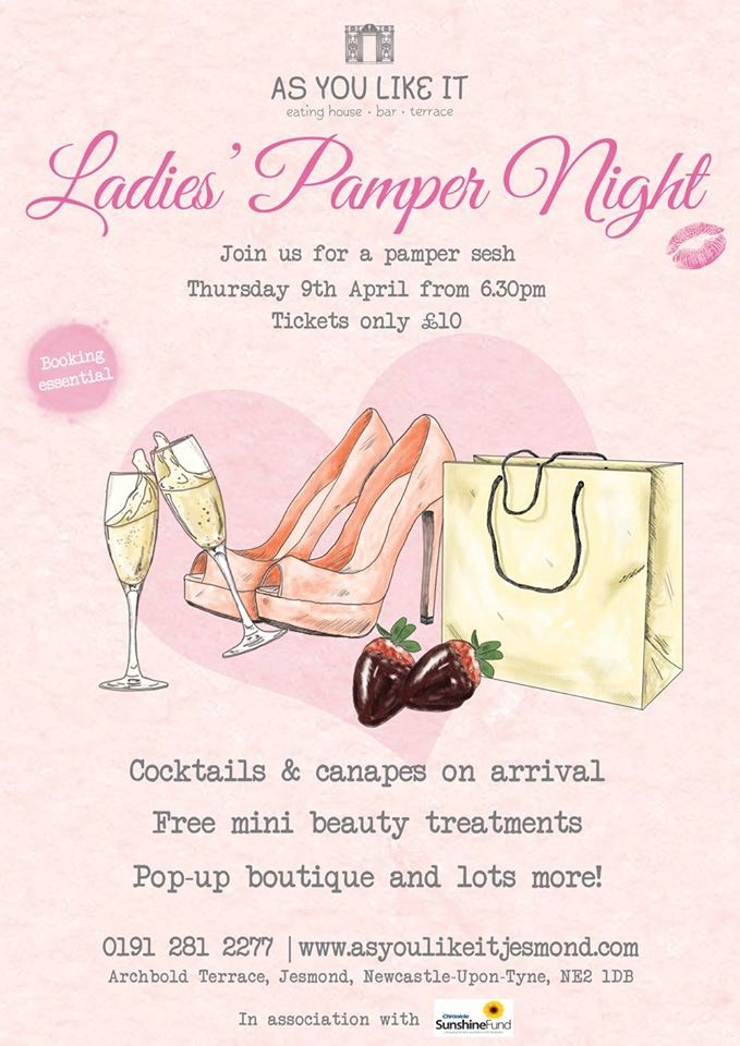 Ladies Pamper Evening, As You Like It