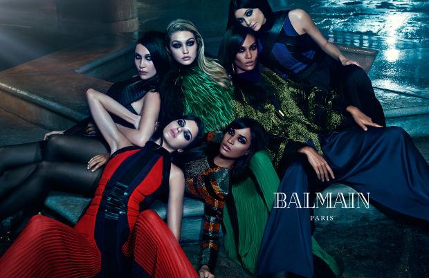Balmain's Supermodel Sister Squad
