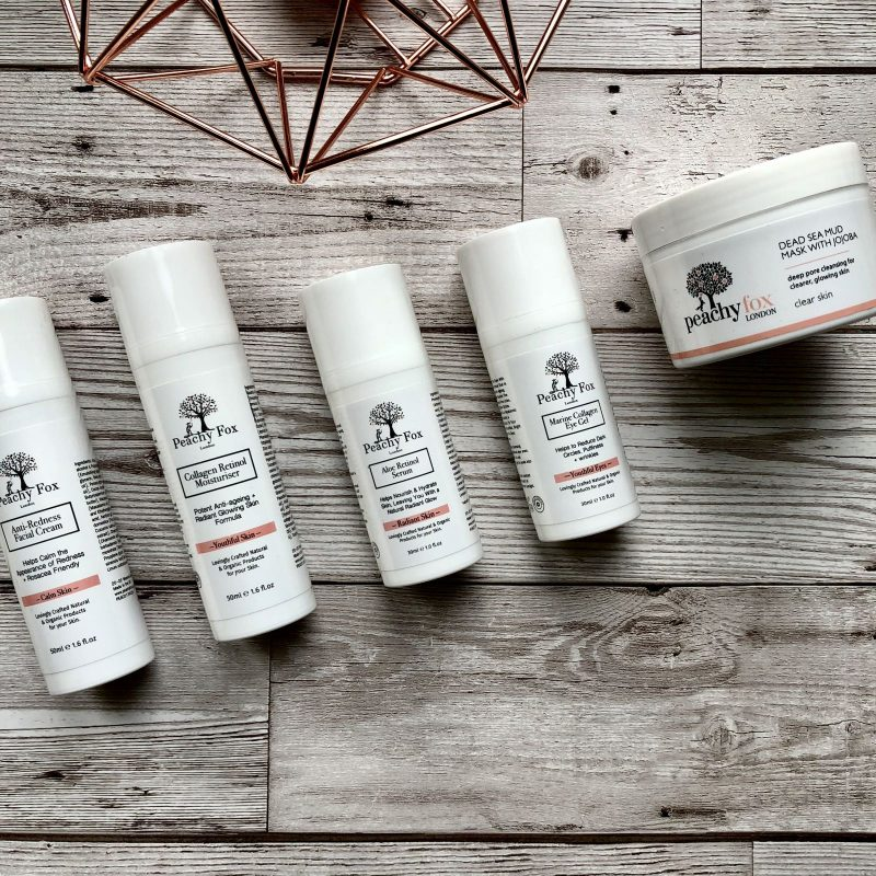 Full product range from Peachy Fox Organic Skincare Fashion Voyeur Blog