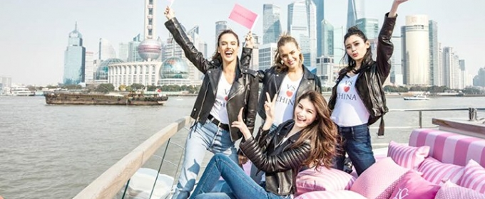 4 VS Models announce that the Victoria's Secret show will be held in Shanghai in 2017