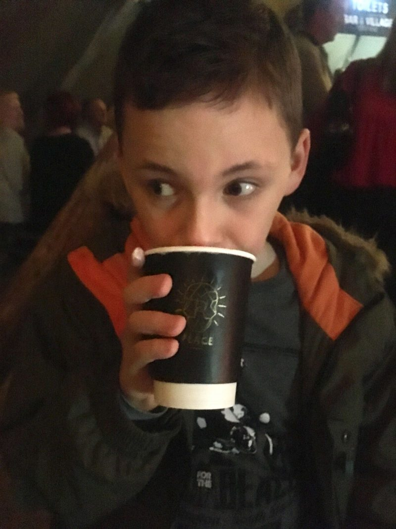 Plankton Tenenbaum drinking R Place White Hot Chocolate at Hadrian's Tipi