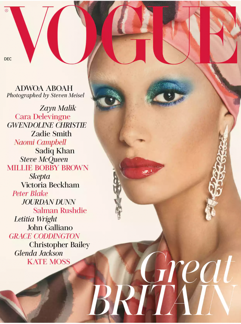 December 2017 issue of British Vogue , first issue under the leadership of Edward Enninful