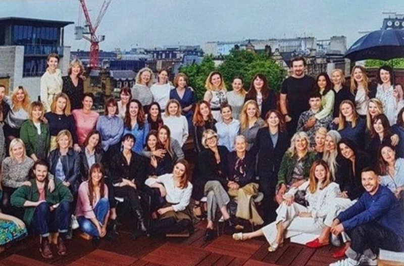 Picture of Alexandra Shulman's staff at vogue, all white staff