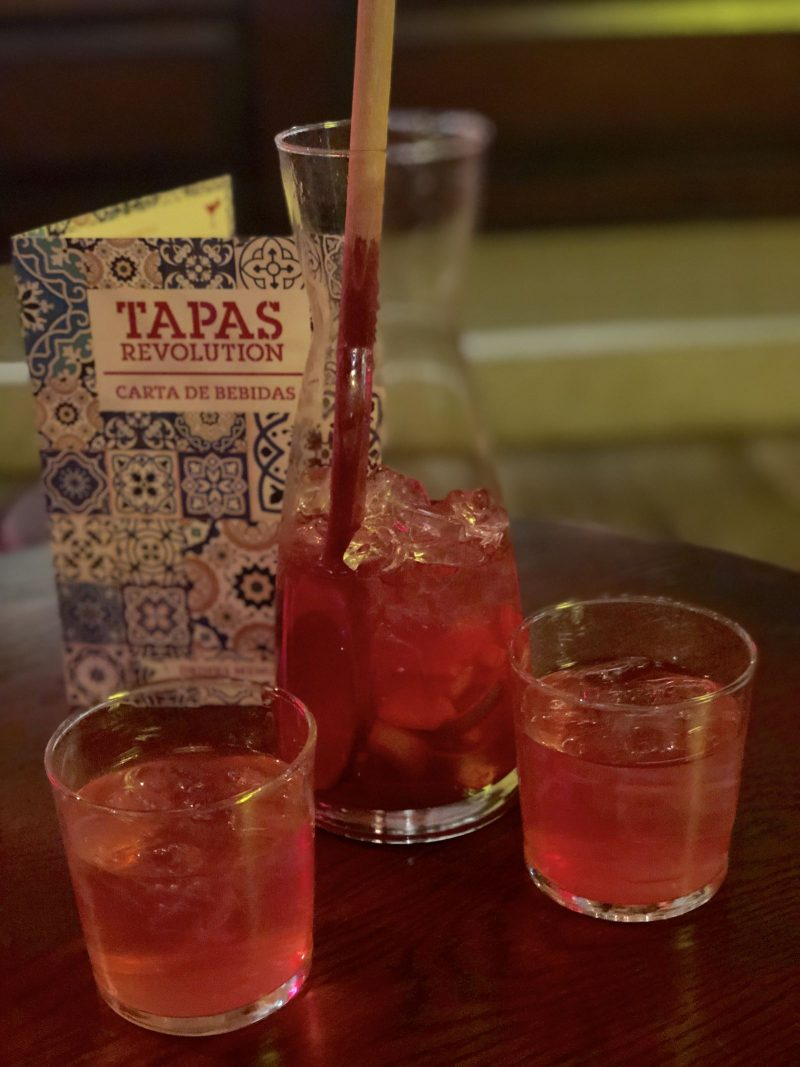 Blood Orange Rose Sangria, Tapas Revolution Newcastle