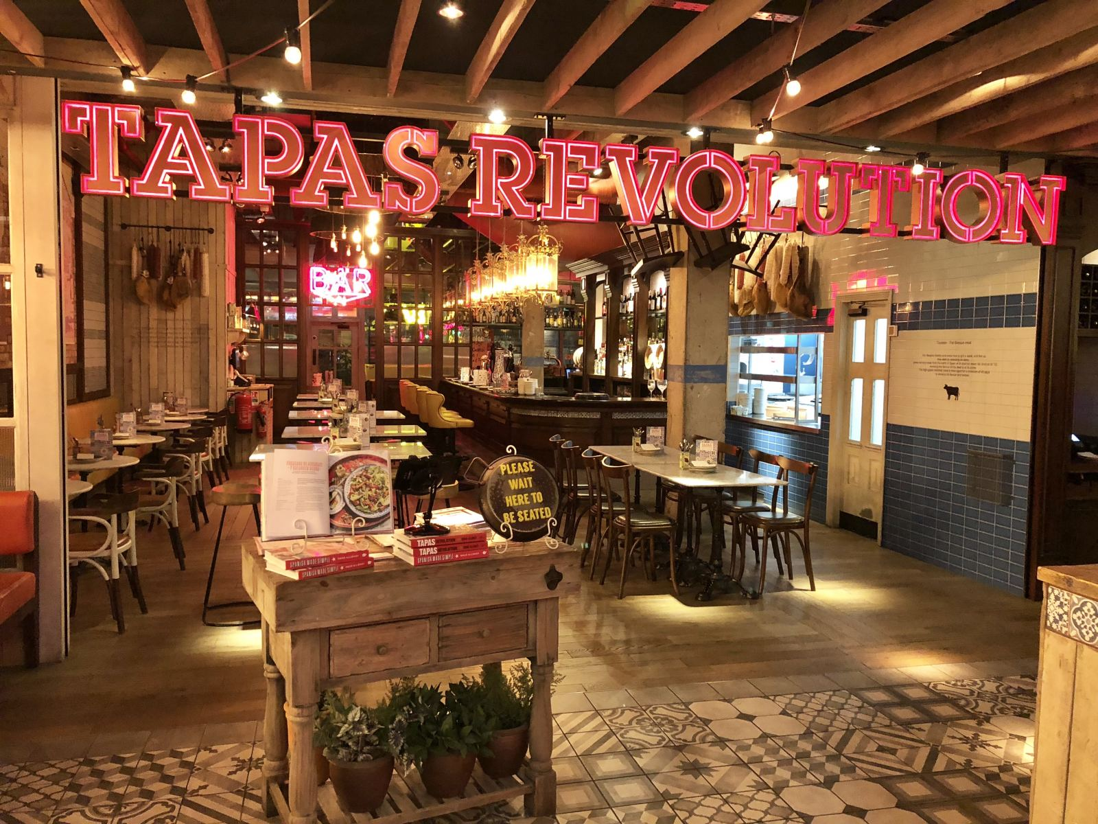 oPen frontage of Tapas revolution at Intu Eldon Square newcastle