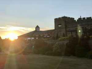 Sunset over Slaley Hall at the Summer soiree in Northumberland