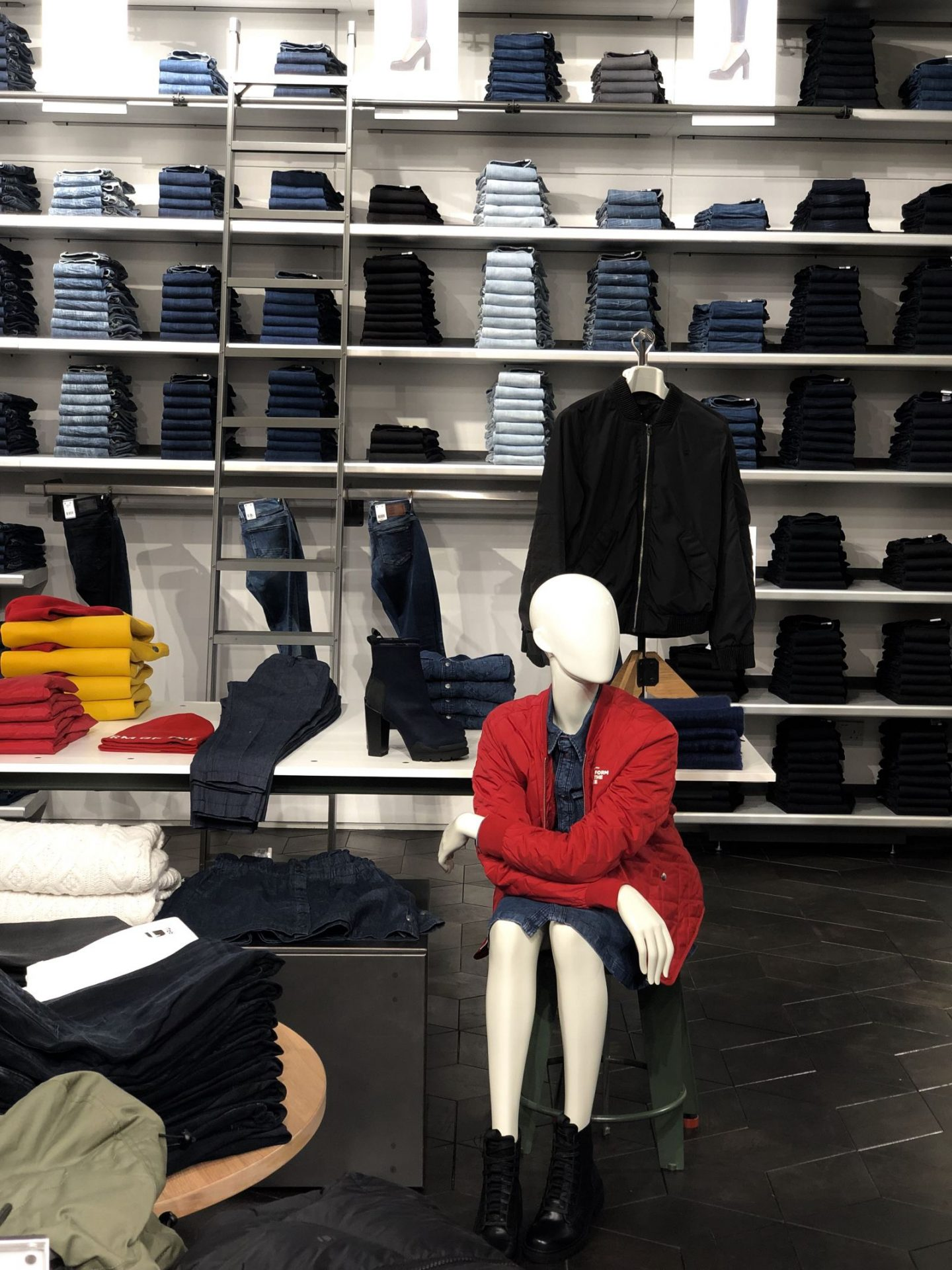The women's denim department at G-Star Raw Intu Metrocentre store launch event - Fashion Voyeur Blog