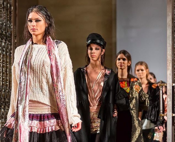 The Finale on the runway at Rocky Star FW19 at London Fashion Week for Fashion Voyeur Blog by Pixie Tenenbaum